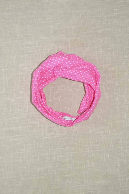 Bandeau Bright Pink With Dots